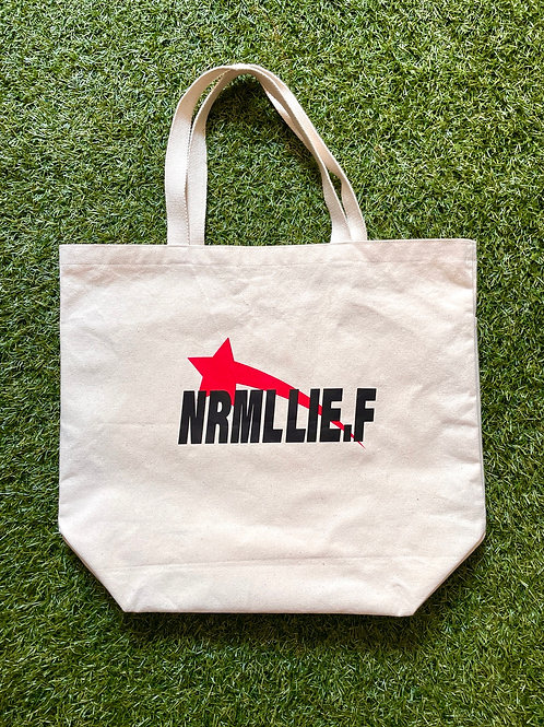 NRML LIE.F tote bag