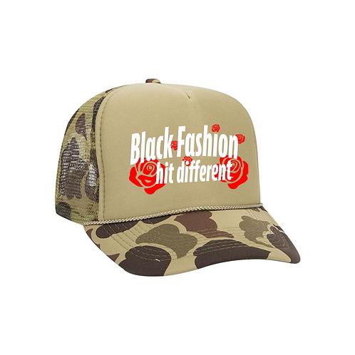 Black Fashion camo hat