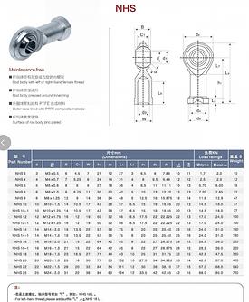 Rotulas Milimetricas Hembra ZSG