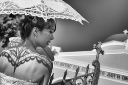 Bride by St George church, Santorini
