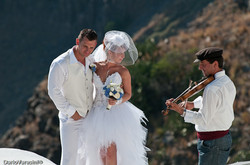 Playing for bride & groom