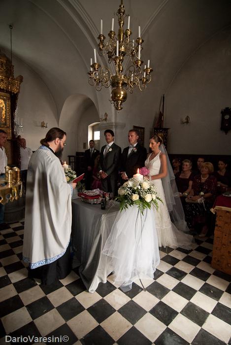 Religious wedding in Aghia Ana, Fira