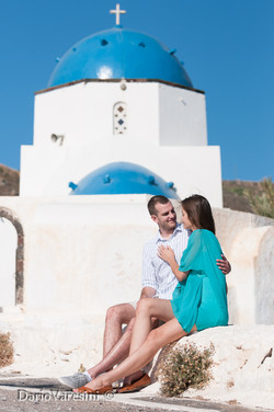 Lucy & George-Honeymoon, Santorini
