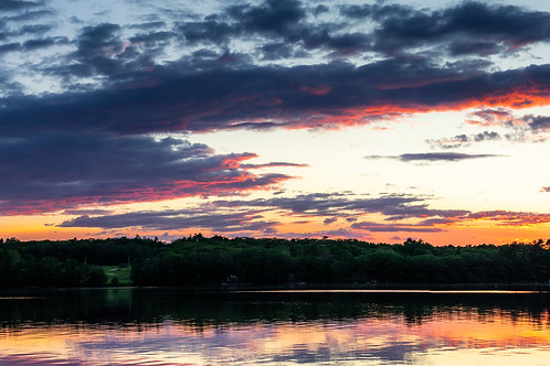 Maine Lake Sunset - Limited Edition Fine Art on Metal - Small