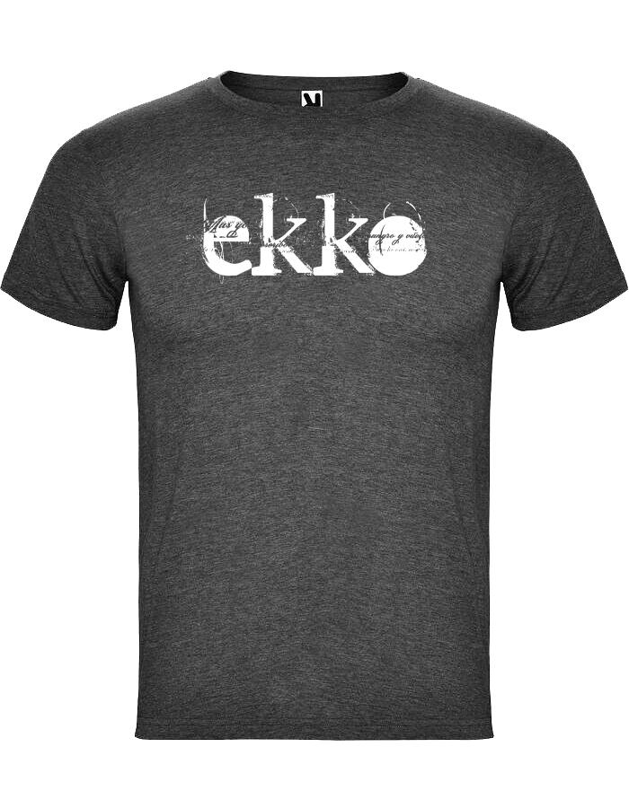 camiseta jaspeada Negra chico - Ekko Roc