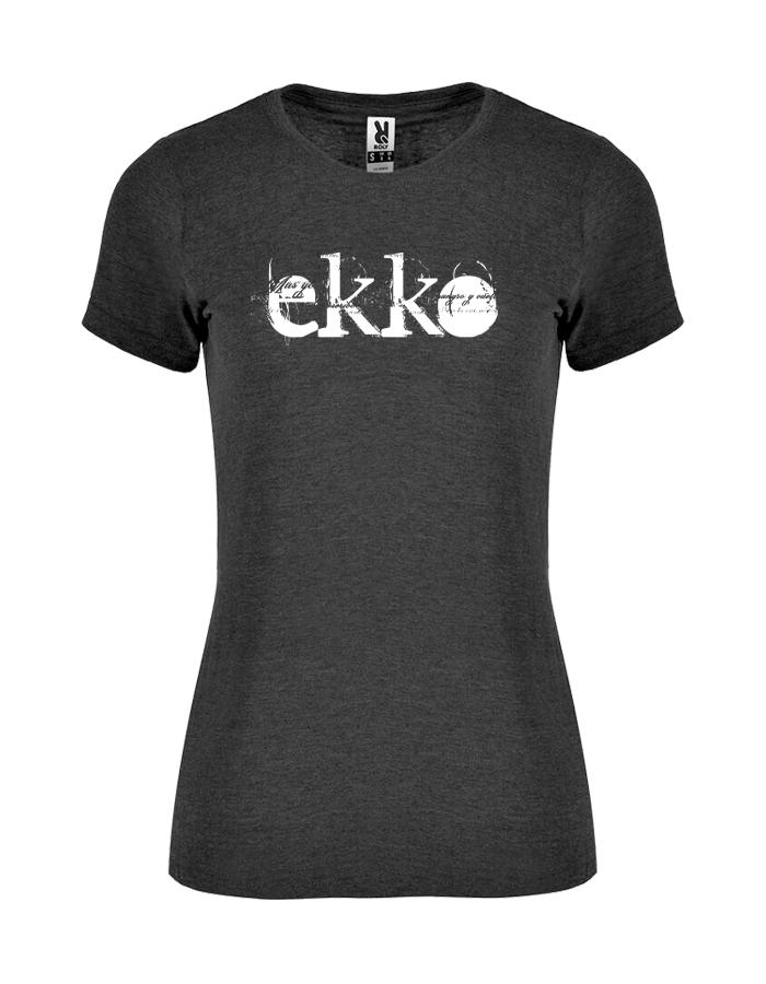 camiseta jaspeada Negra chica - Ekko Roc