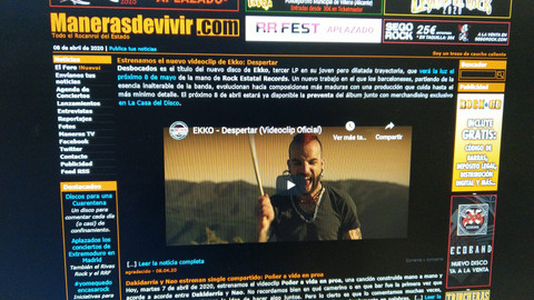 "VIDEOCLIP ADELANTO ""DESPERTAR"" EN MANERASDEVIVIR.COM"