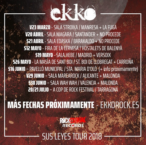 """EKKO DESVELA LAS PRIMERAS FECHAS DE """"SUS LEYES TOUR"""""""