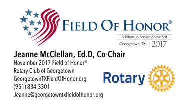 Business Card - Field of Honor