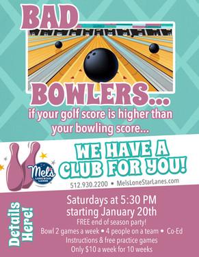 Bad Bowlers Club Flyer