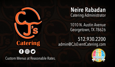 Business Card - CJ's Catering
