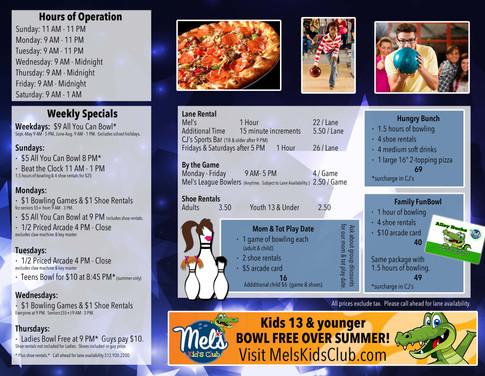 Family Entertainment Center Brochure (Inside)