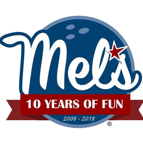 Mel's 10 Year Logo