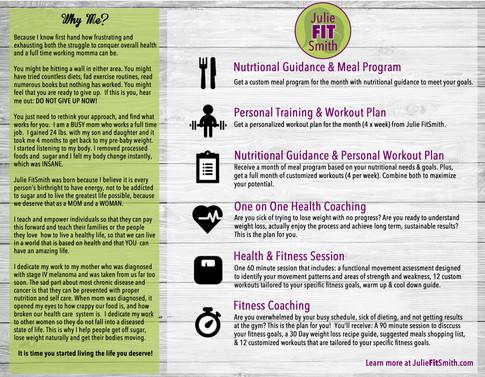 Business Brochure for Julie FitSmith