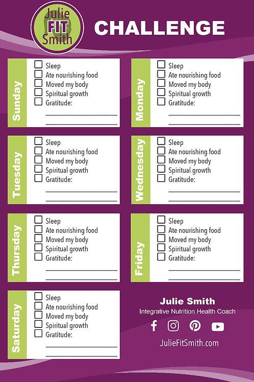 Julie FitSmith Challenge Notepad