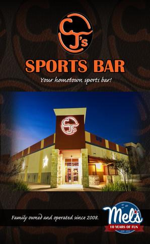 Sports Bar Menu