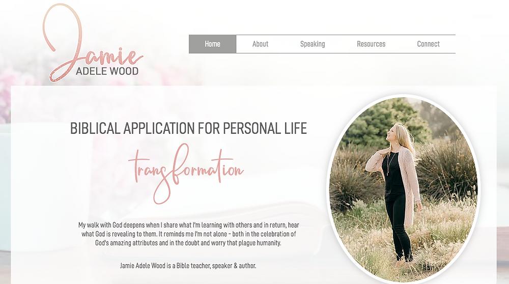Jamie's Website designed by Rocky Bush