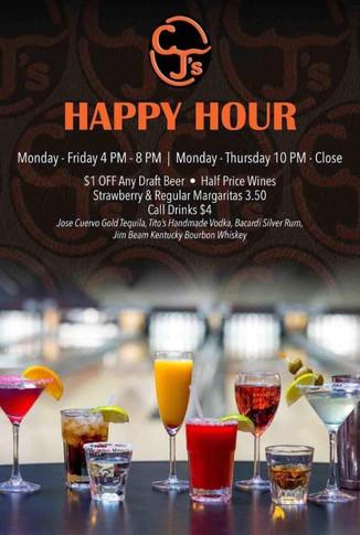 CJ's Sports Bar | Happy Hour