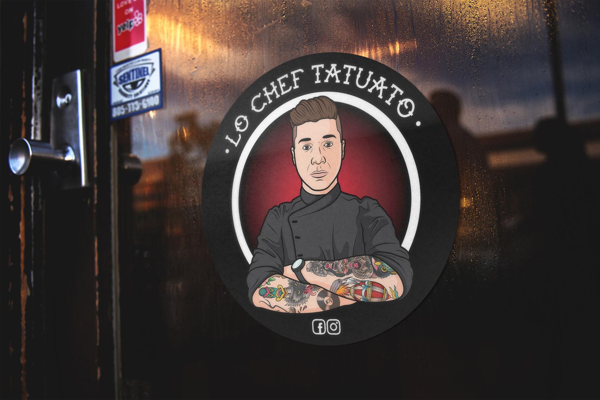 Lo Chef Tatuato Adesivo Illustrazione - MP Grafica