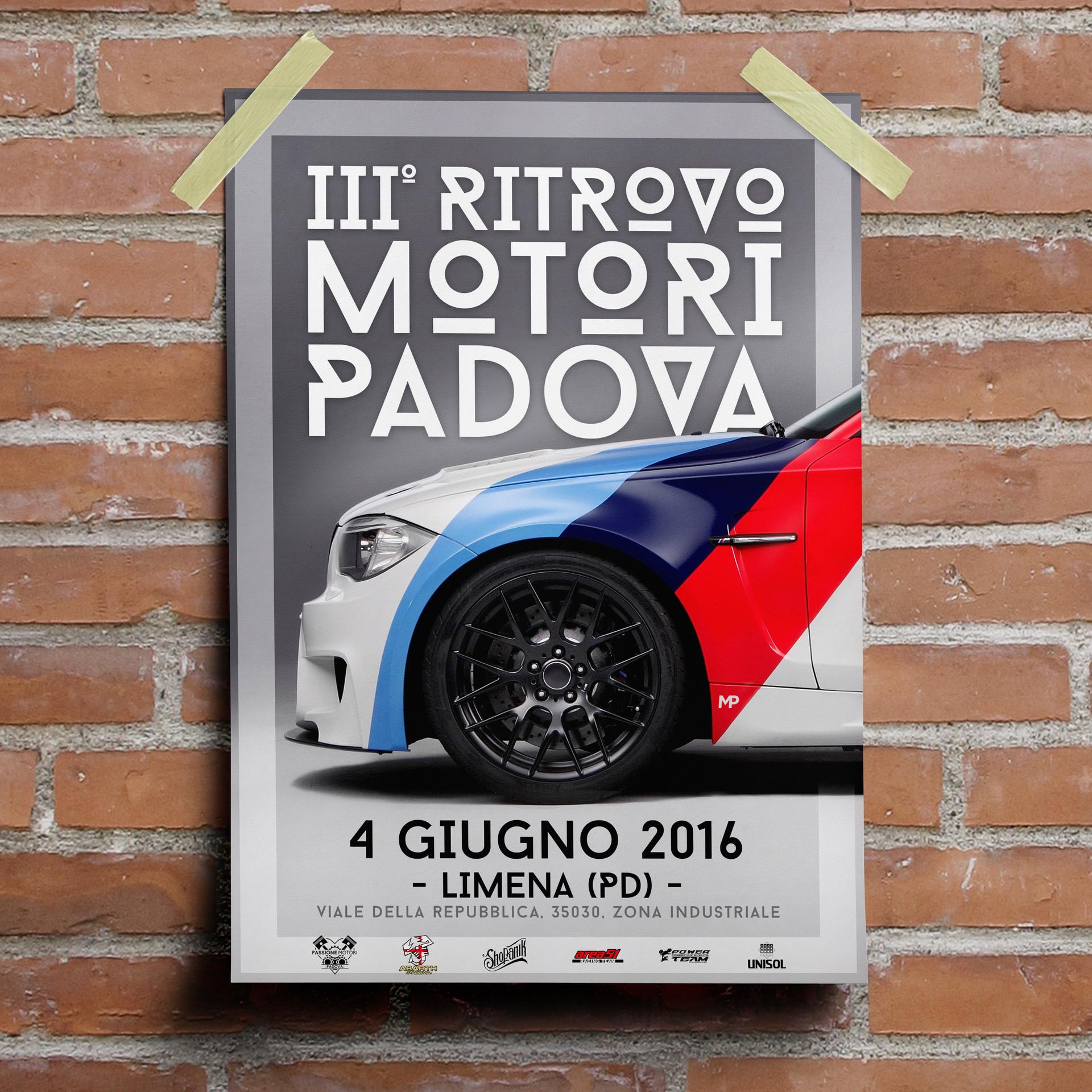 III Ritrovo Motori Padova Poster - MP Grafica