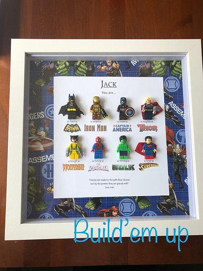 Superhero Frame Personalised 12x12in