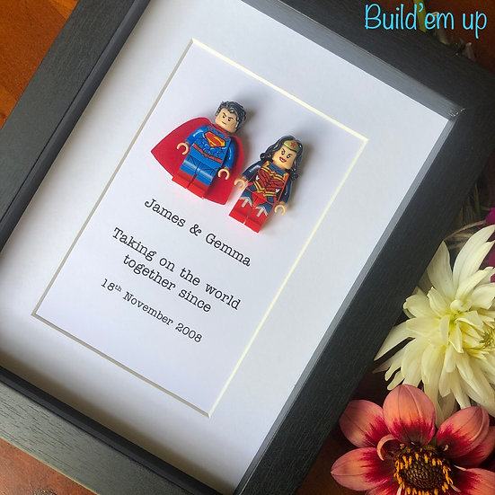 Taking on the world Superheroes, Personalised 6x8in