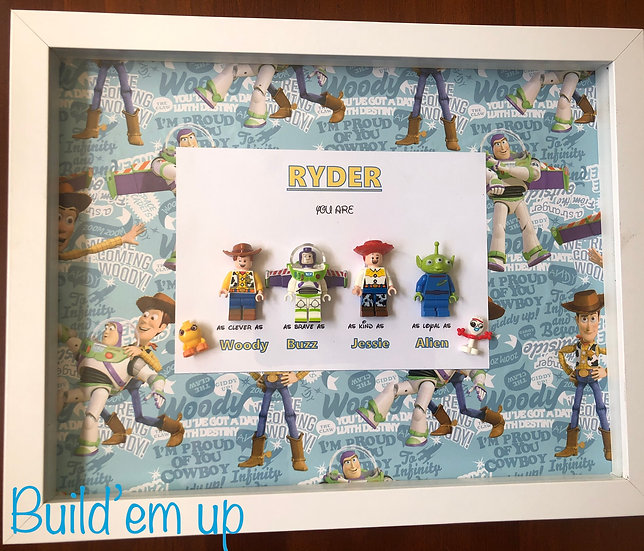 Toy Story Themed Personalised Frame 10x13in