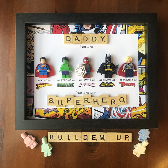 Scrabble Superhero- Personalised 8x10in