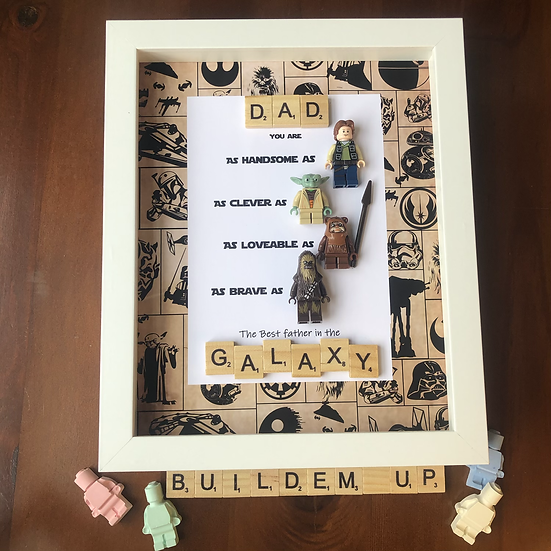 Scrabble Star Wars themed personalised frame 8x10in