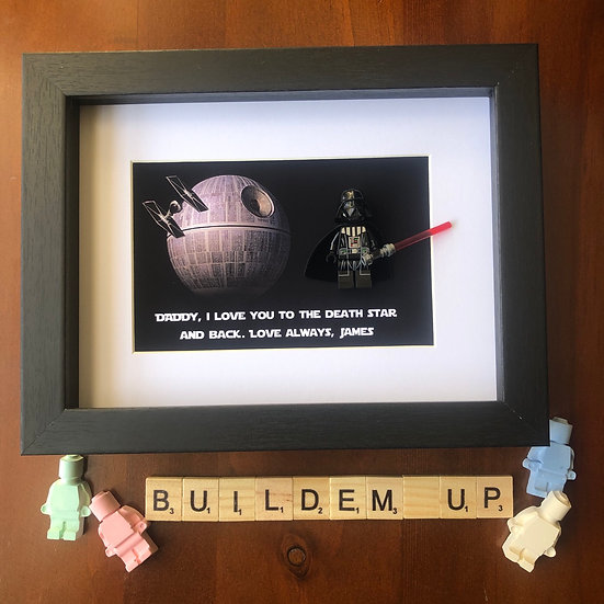 ~Personalised~ Death Star frame 6x8in