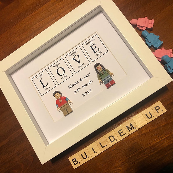 Periodic Table Love- Personalised with date