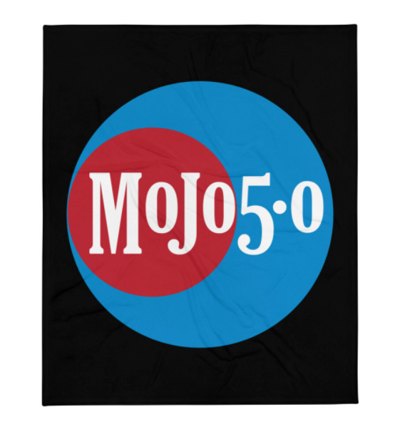 Mojo 5-0 Radio Logo Throw Blanket