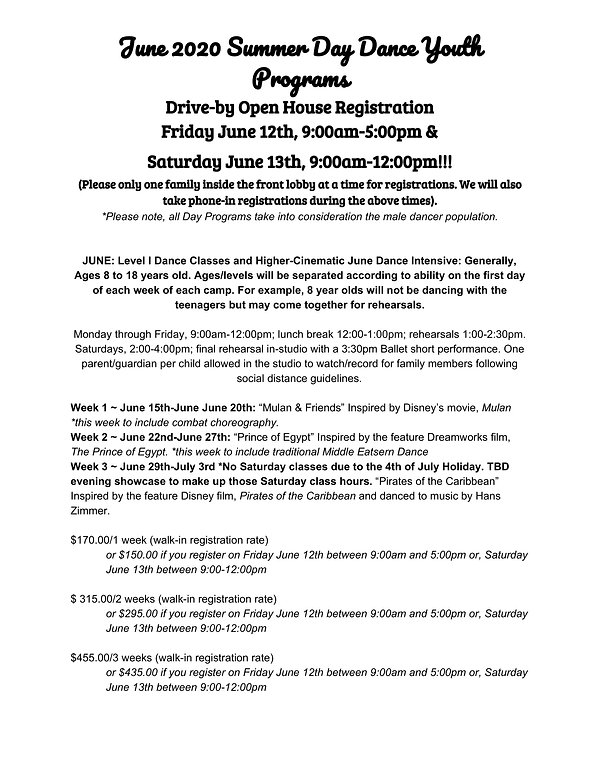 june_summer 2020 day dance youth program