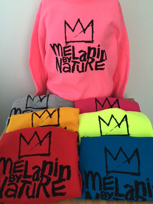 UNISEX Crew Neck Sweatshirts (Melanin By Nature)