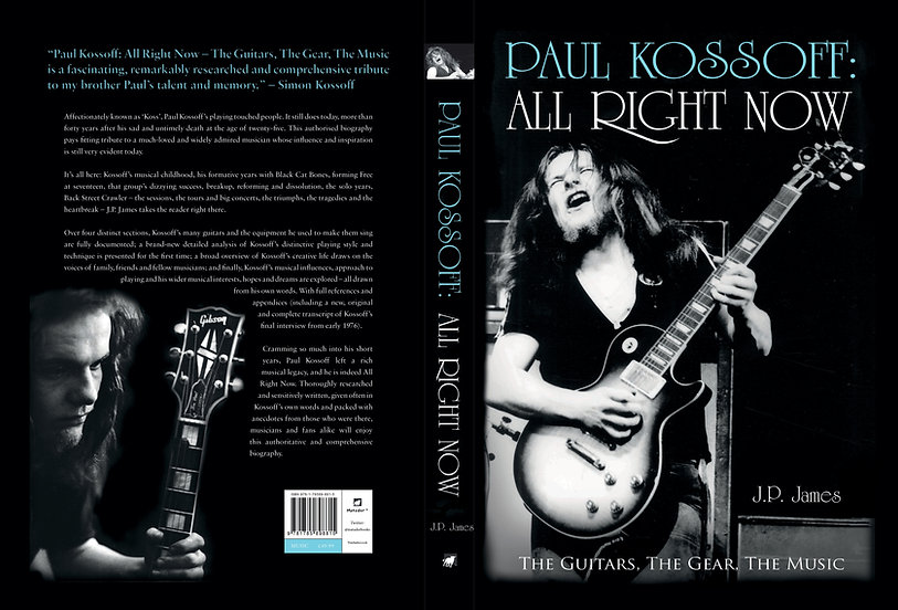 Paul Kossoff All Right Now Book Cover