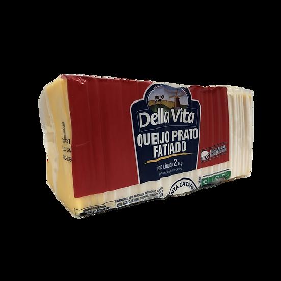 Queijo Prato Fatiado 2kg - Della Vita