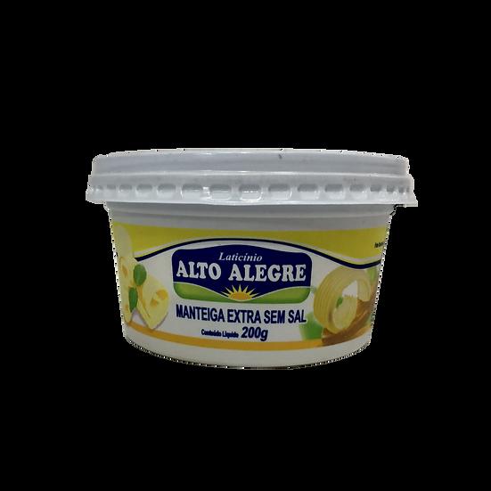 Manteiga Extra Sem Sal - Alto Alegre (200g)