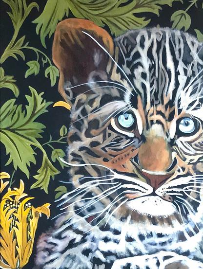 Lincoln - Amur Leopard Wall Flower Series
