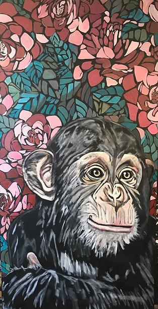 Charlie-Chimp-  Wall Flower Series