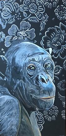Bernice - Bonobo - Wall Flower Series