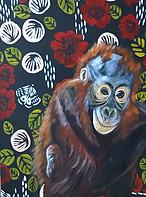 Oliver - Orangutan - Wall Flower Series