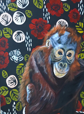 Oliver - Orangutan - Wall Flower Series
