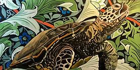 Truman - Sea Turtle - Wall Flower Series