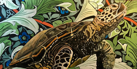 Truman - Sea Turtle - Wall Flower Series
