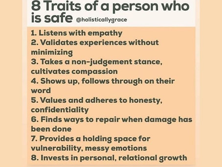 8 traits of people who are safe or not.