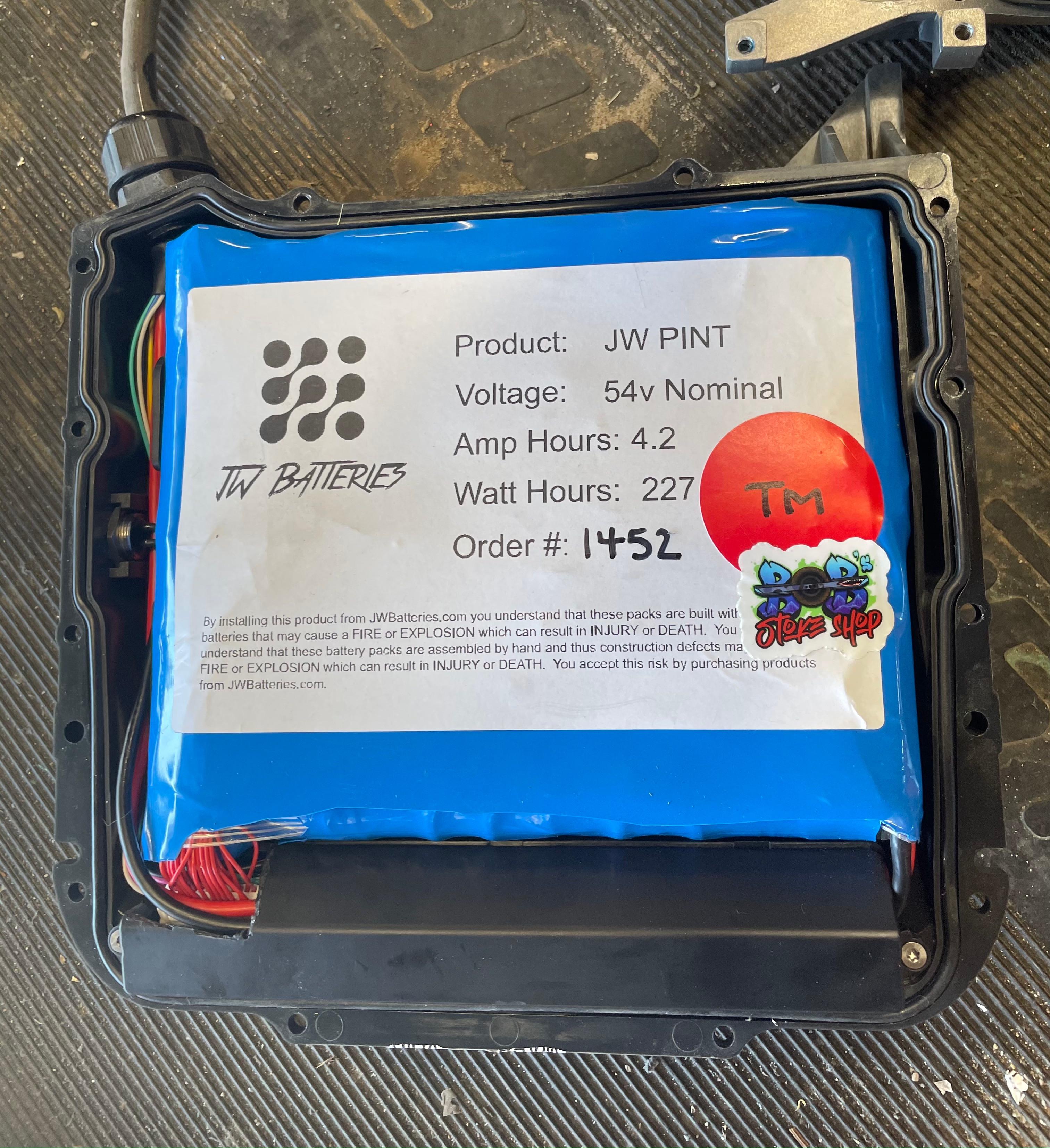 JW pint or Quart Battery Installation