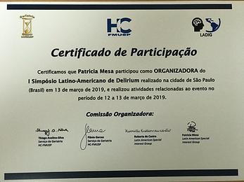 CERTIFICADO ORGANIZACION DEL 1 SIMPOSIO LATINOAMERICANO DELIRIUM S.PABLO MARZO  2019.png