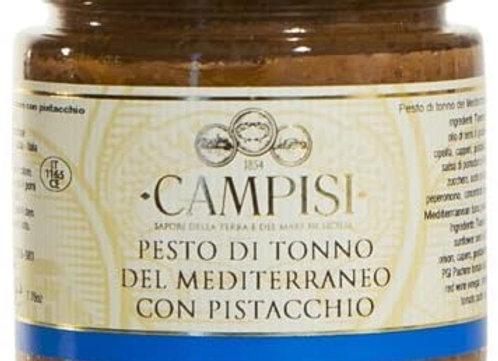 Pesto di Tonno del Mediterraneo con Pistacchio . CAMPISI