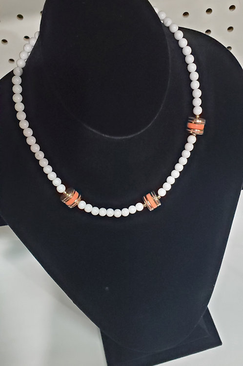 Bead blend costume jewelry necklace