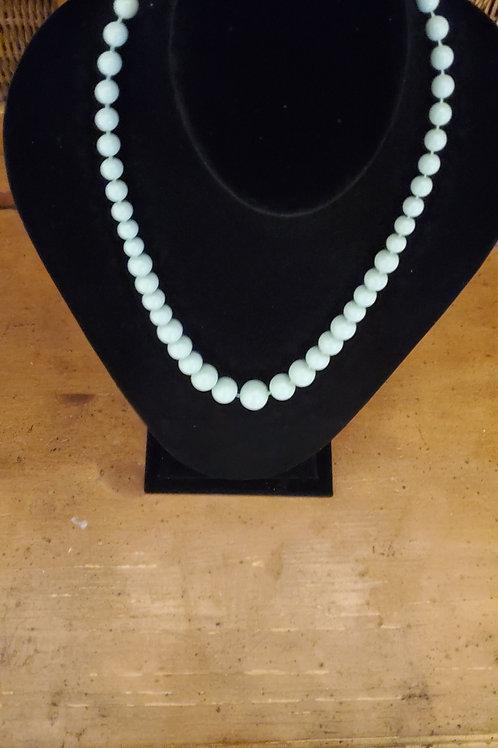 Sky blue long necklace